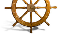 Ship's wheel by Bob Fuller