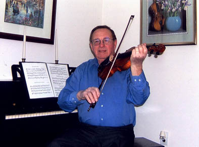 John A. Campbell at home. Photography by George Ruckert, Cape Breton style fiddling, ; Maynard, Massachusetts;
