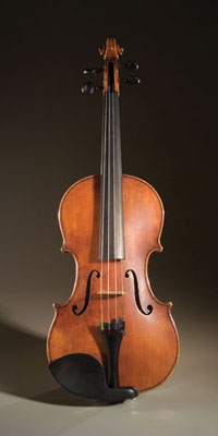 Violin, Musical instrument, 2002; Bob Childs (b. 1952); Cambridge, Massachusetts; Maple, spruce, ebony, strings; 23 1/4 in. length; Collection of the artist; Photography by Jason Dowdle