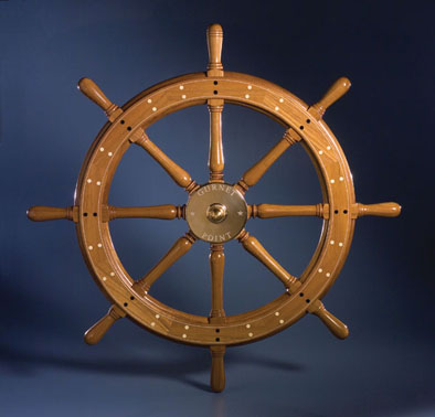 Ship's Wheel, Marine hardware, 2007; Bob Fuller (b. 1961); Halifax, Massachusetts; Wood and brass fittings; 36 1/4 in. diam. x 4 7/8 in.; Collection of Bob Fuller, South Shore Boatworks; Photography by Jason Dowdle