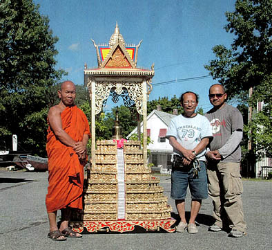 Stupa structure for Buddhist Temple, Cambodian ornaments, 2010; N. Chelmsford, Massachusetts;