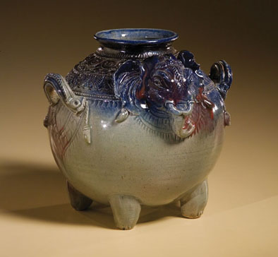 Elephant Pot, Cambodian pottery, 2006; Yary Livan (b. 1954); Lowell, Massachusetts; White stoneware clay, glaze; 9 x 10 x 10 1/4 in.; Collection of the artist; Photography by Jason Dowdle