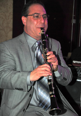 Malcolm Barsamian performing on the clarinet, Armenian musician, 2014; Malcolm Barsamian; Arlington, Massachusetts;