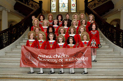 O'Shea-Chaplin Dancers performing at the Massachusetts State House, Irish dance, 2009; Rita O'Shea-Chaplin; Boston, Massachusetts;