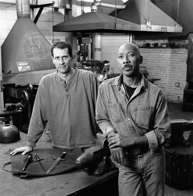 Paul Cooper (left) and J.D. Smith, Bladesmithing, 2007; Boston, Massachusetts; Photography by Billy Howard