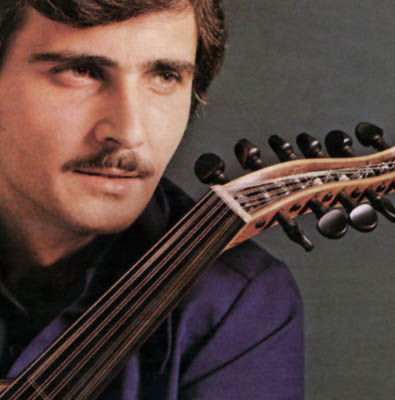 John Berberian's press photo from the 1970s; Apprenticeship - Armenian oud playing; ca 1970s: