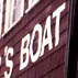 Lowell's Boat Shop sign outside window; Apprenticeship - Wooden boat building; 2003: Amesbury, Massachusetts