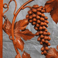 Frame with grapevine; Ornamental woodcarving apprenticeship; 2014: Hampden, Massachusetts