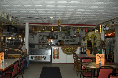Interior of restaurant; Puerto Rican musicans and foodways; 2008:
