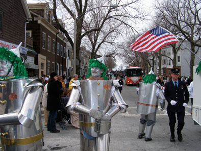 Tin Men from Local 17, Sheet Metal Workers International Association, St. Patrick's Day Parade, Dorchester: 2007: