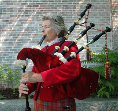 Portrait of Nancy Tunnicliffe; Apprenticeship - Great Highland bagpipes; 2009: