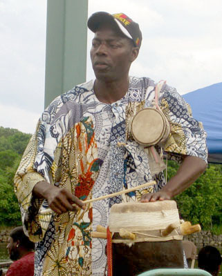 Drummer in Mamadou Diop band; Ethnic festival; 2009: